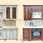 Готовые стандартные кухонные гарнитуры 18